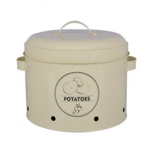 Barattolo In Latta Con Fori Per Patate