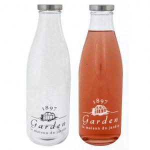 Bottiglia In Vetro Per Liquidi Con Tappo Latte