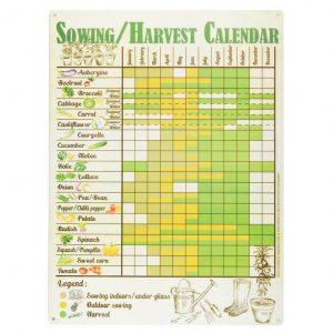 Calendario appendibile semina e raccolto