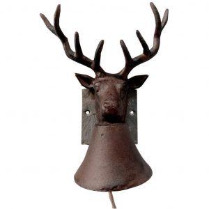Campanella A Forma Di Cervo Su Supporto In Ardesia
