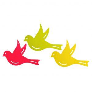 Decoro Da Giardino Birds Fluores