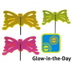 Decoro Da Giardino Forma Farfalla Fluorescente