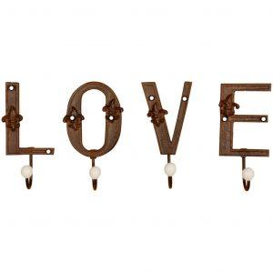 Ganci Da Muro Scritta Love