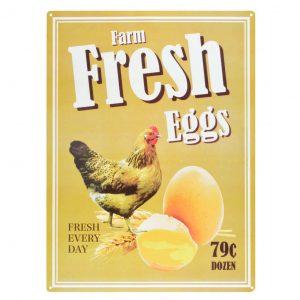 Insegna uova fresche