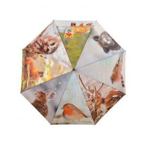 Ombrello Fantasia Animali Bosco Invernale