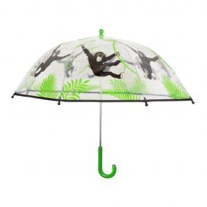 Ombrello Per Bambini Trasparente Fantasia Scimmie
