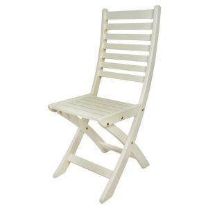 Sedia In Legno Richiudibile Bianco