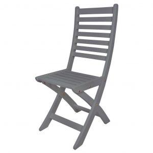 Sedia In Legno Richiudibile Grigio