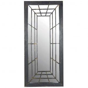 Specchio Trompe L'Oleil Rettangolare In Metallo