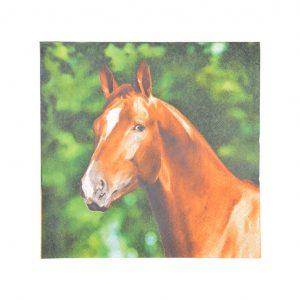 Tovaglioli In Carta 33X33Cm Fantasia Cavallo