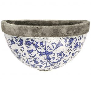 Vaso Da Parete In Ceramica Invecchiata