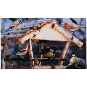 Zerbino Da Interno Decorato Uccellini