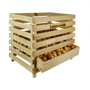 Contenitore In Legno Per Patate