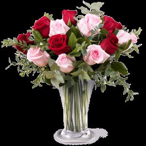 bouquet di rose rosse e rossa