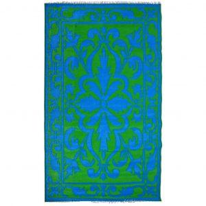 Tappeto per Giardino Decoro Persiano Verde/Blu