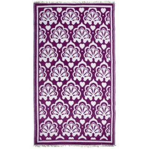 Tappeto per Giardino Decoro Persiano Viola/Bianco