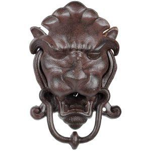 Battiporta a forma di testa di leone