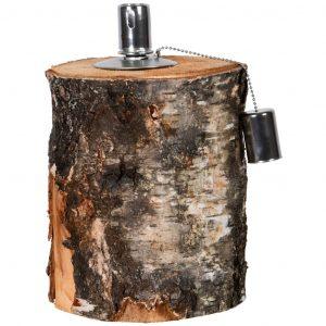 Lampada ad olio a bricco di legno