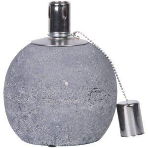 Lampada ad olio in cemento s