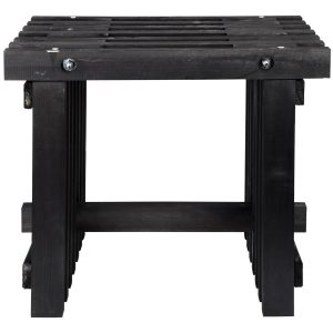 Sgabello in legno nero