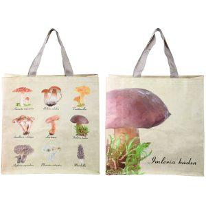 Shopping bag fantasia varietà funghi