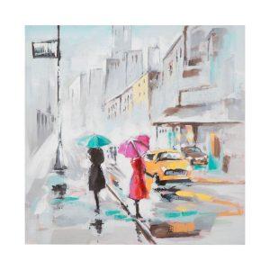 Dipinto su tela rain paris b