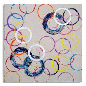 Dipinto Su Tela Floating Circles A