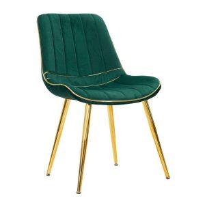 Sedia Paris Verde-Gold Set 2 Pz