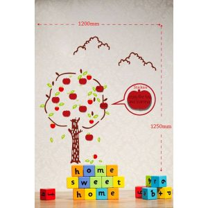 Sticker Da Muro Apples Con Post It
