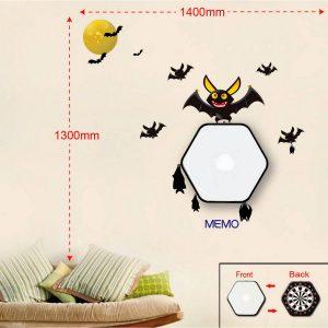 Sticker Da Muro Bat Con Lavagnetta E Bersaglio