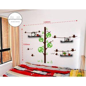 Sticker Da Muro Birds And Tree Con Mensole