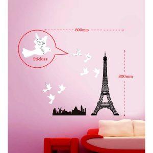 Sticker Da Muro Eiffel Con Post It