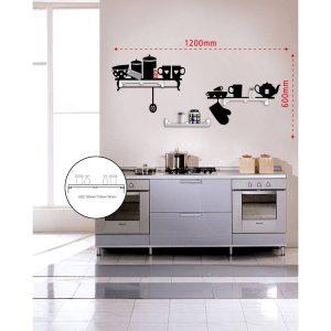 Sticker Da Muro Kitchen Con Mensole
