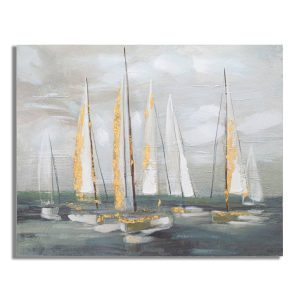 Dipinto Su Tela Gold Boat