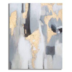 Dipinto Su Tela Grey-Gold