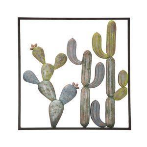 Pannello In Ferro Cactus Frame C