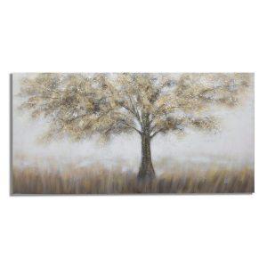 Dipinto Su Tela Tree Dark A