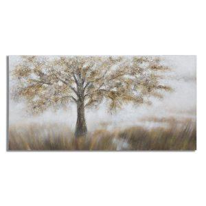 Dipinto Su Tela Tree Dark B